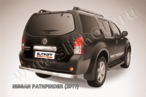 NISSAN PATHFINDER (2011)-Защита заднего бампера d76